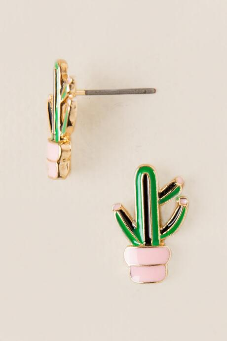 Cactus in Pot Studs