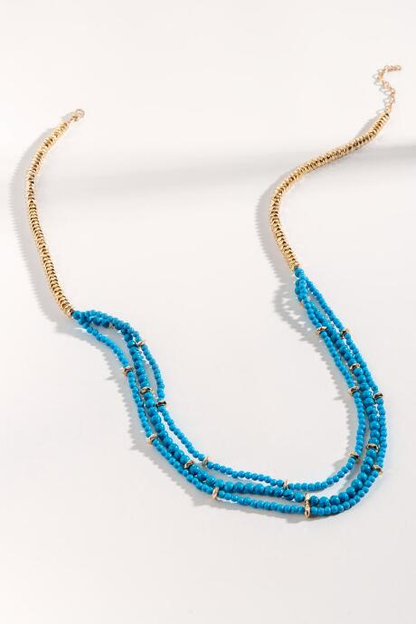 Kyla Layered Beaded Chain Necklace
