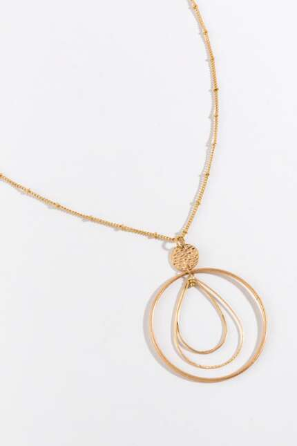 Ayanna Orbital Teardrop Pendant Necklace