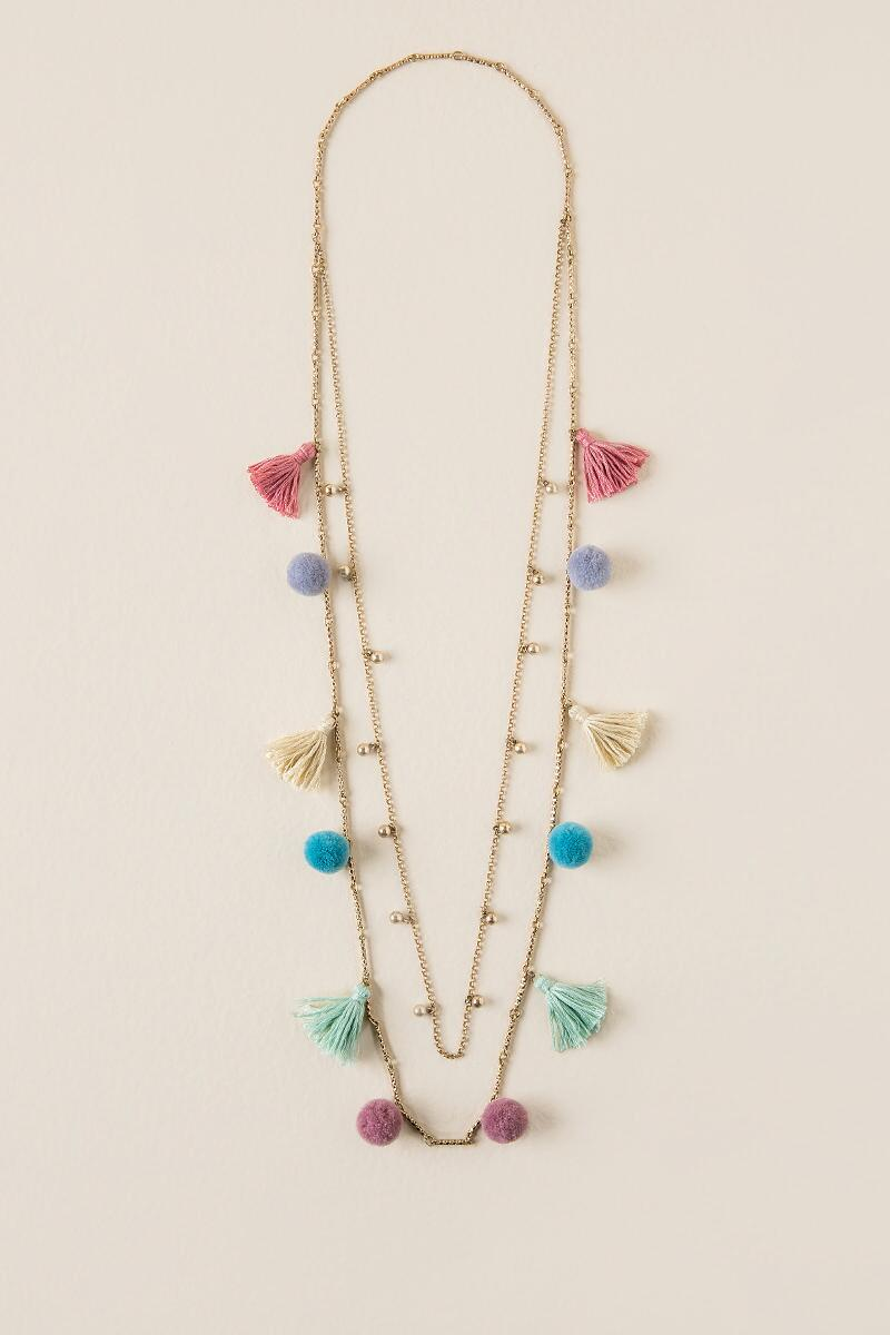 Catalina Scattered Poms Necklace