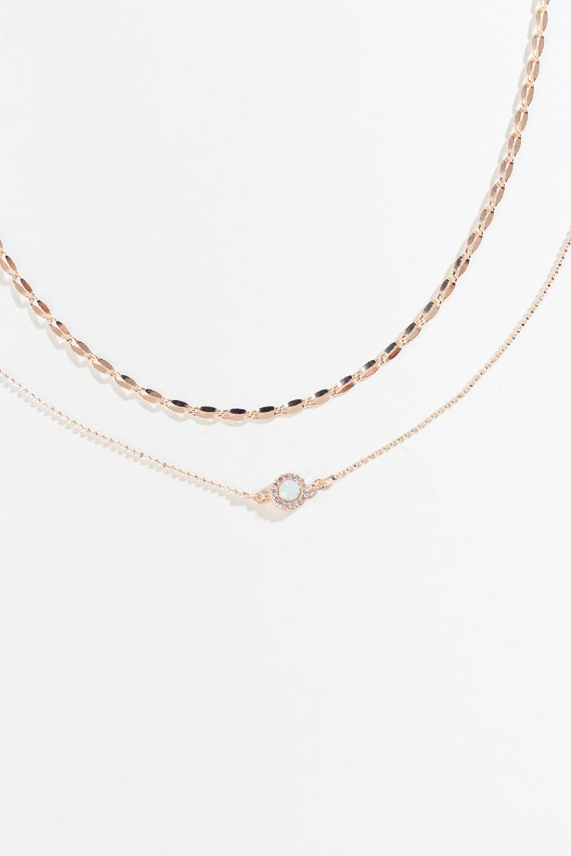 Claressa Layered Choker-  rgold-cl