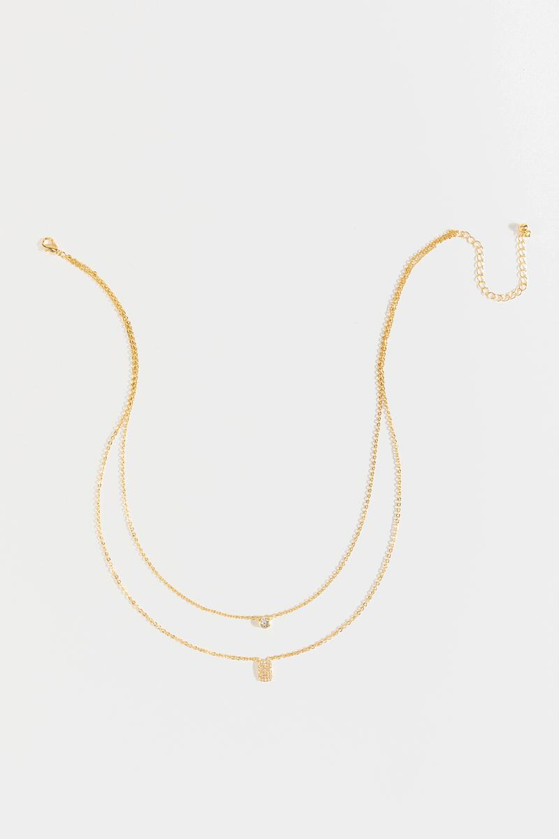Zoey Coin Drop Necklace- Gold