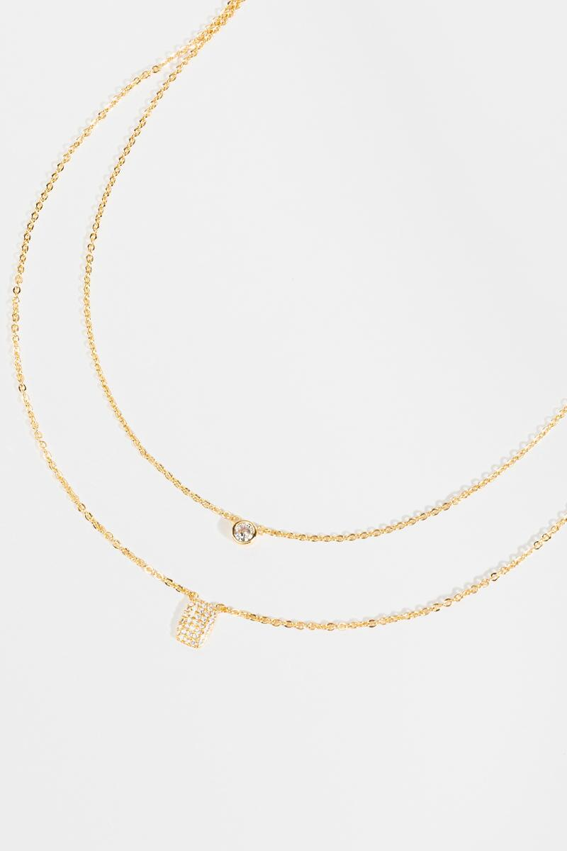 Zoey Coin Drop Necklace- Gold 3