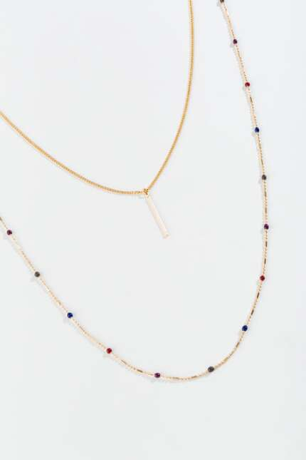 Simone Beaded Layered Necklace
