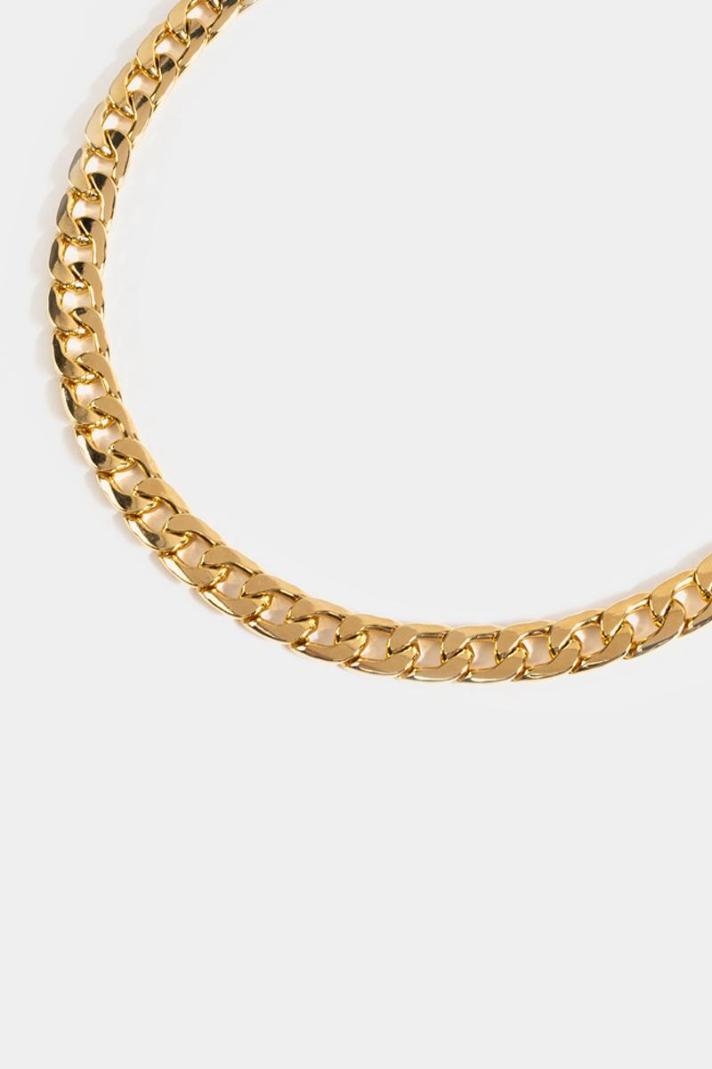 Iris Linked Curb Chain Necklace- Gold