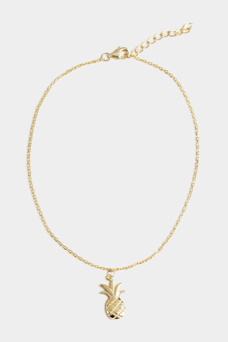 Amaya Pineapple Charm Anklet-  gold-cl