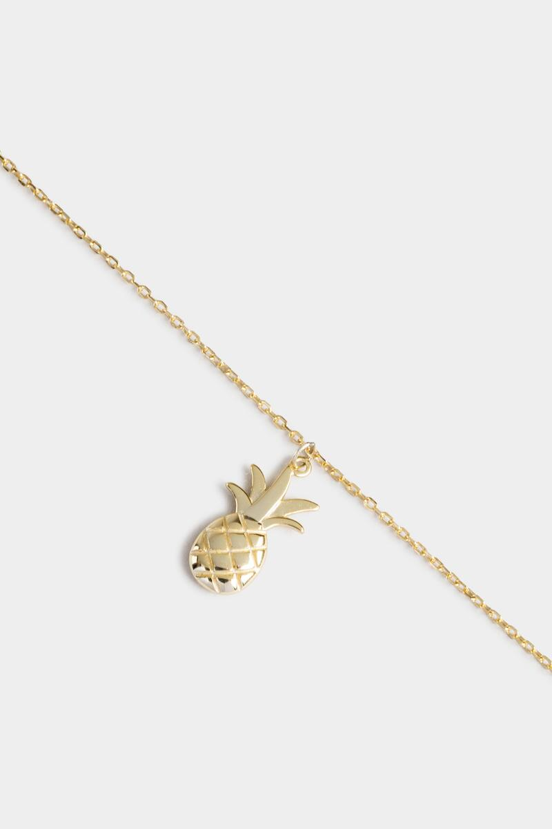 Amaya Pineapple Charm Anklet-  gold-cl3