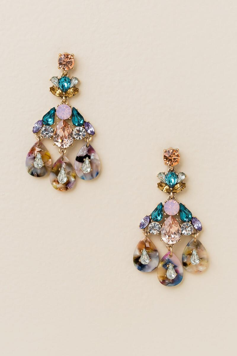 Penley Marbled Chandelier Earrings