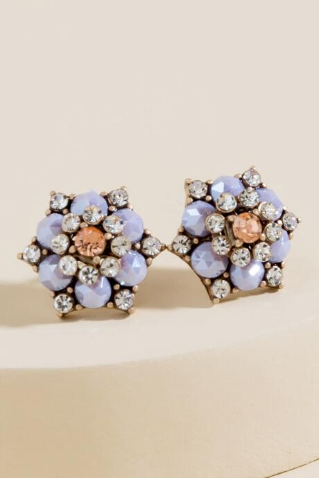 Giselle Crystal Flower Statement Studs
