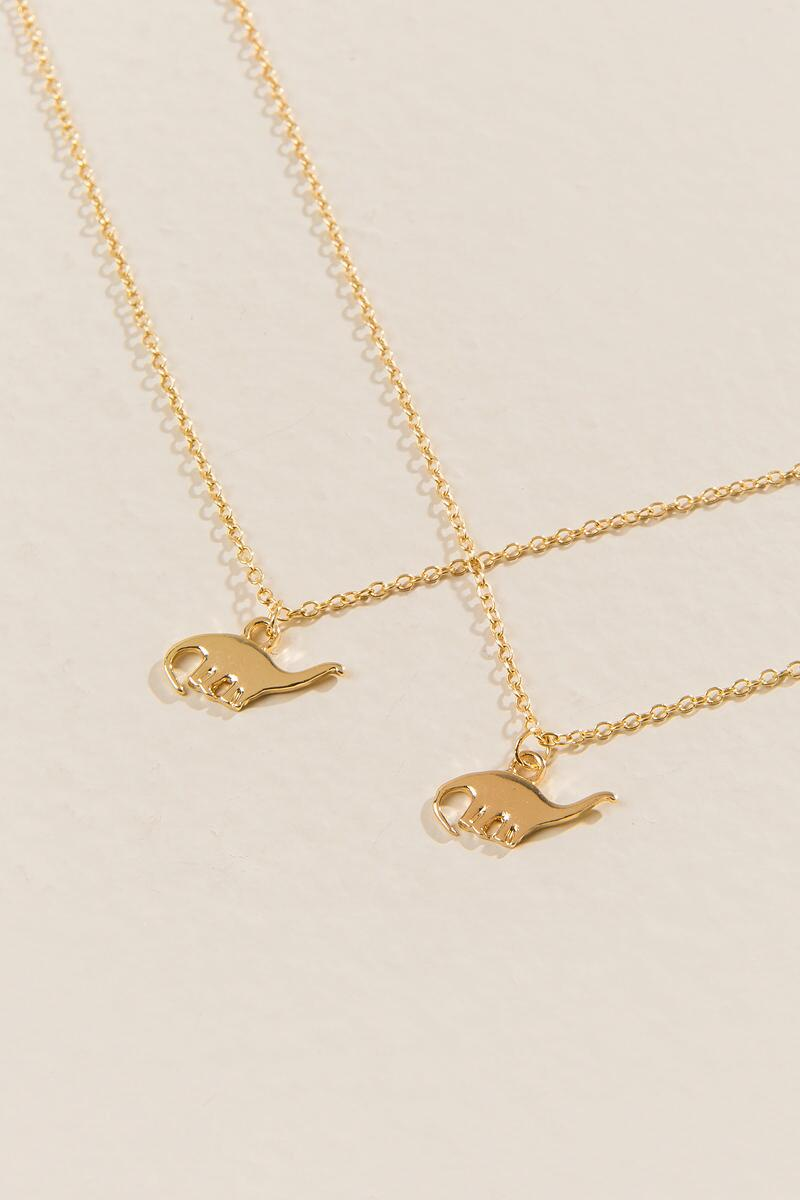 Dinosaur Friendship Necklace Set