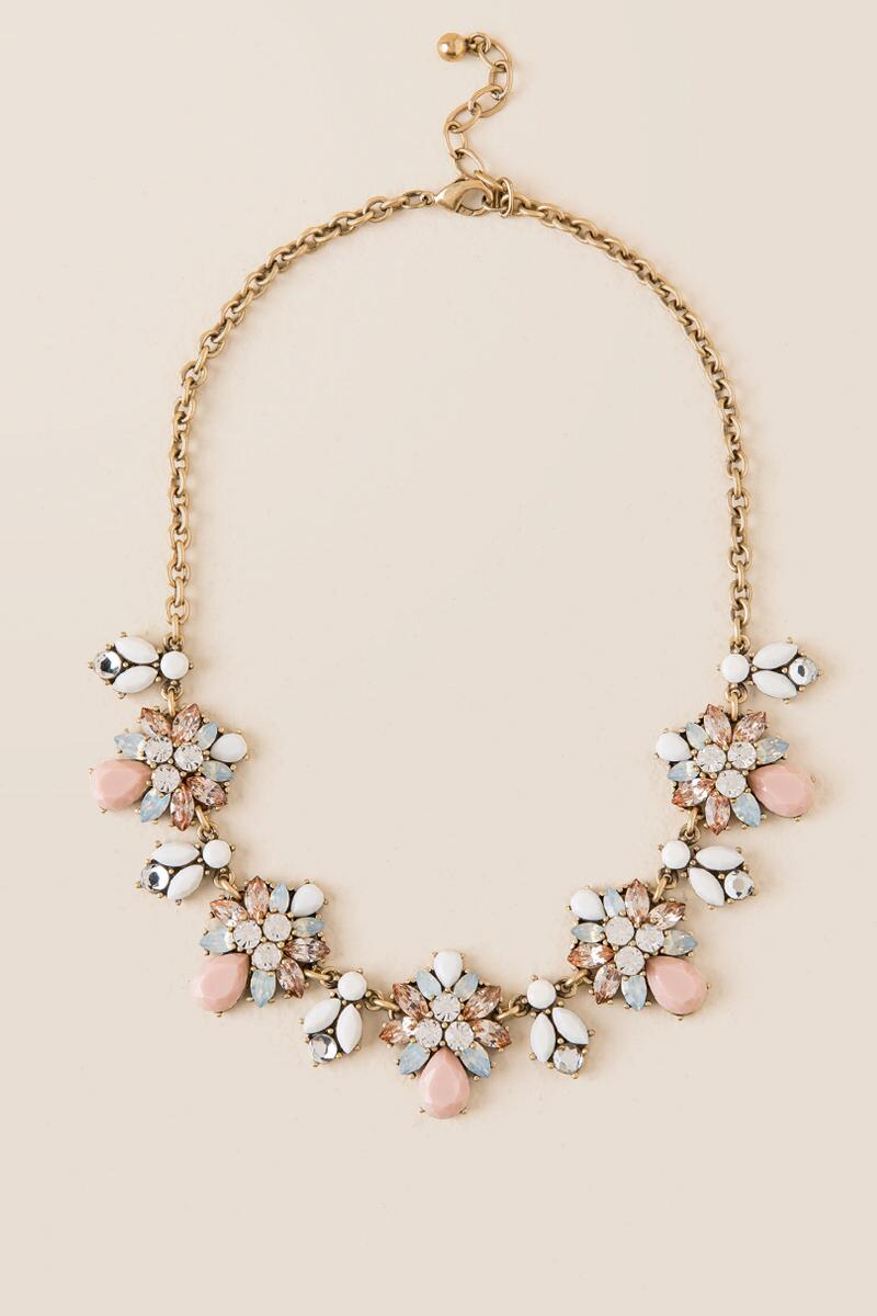 Claudia Statement Necklace-  blush-cl