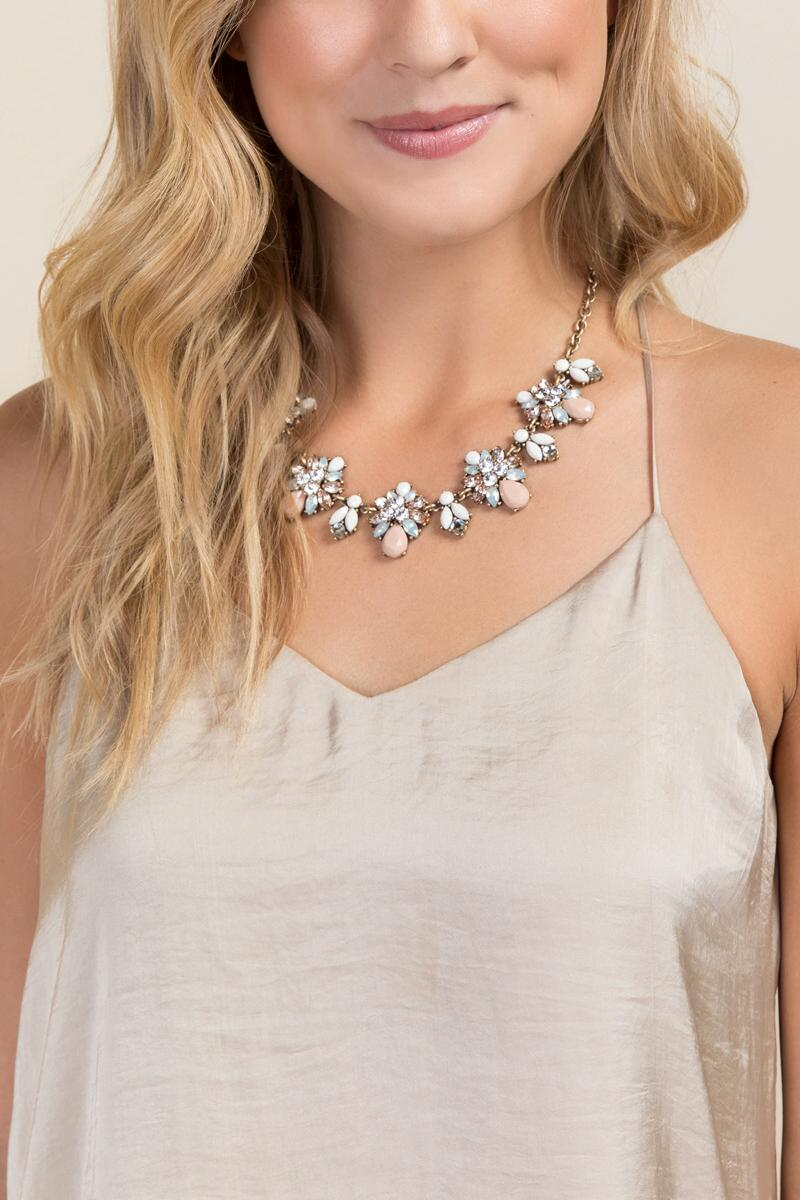 Claudia Statement Necklace-  blush-clmodel