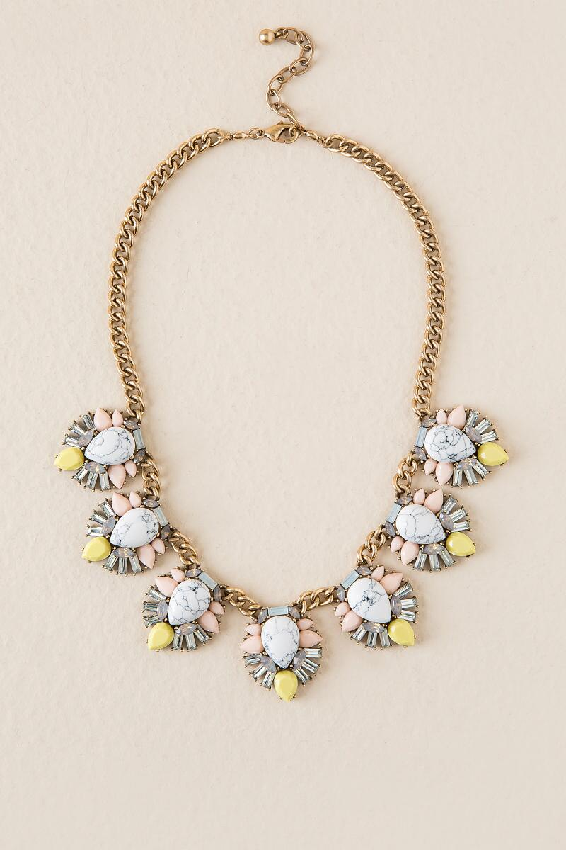 Layla Howlite Statement Necklace
