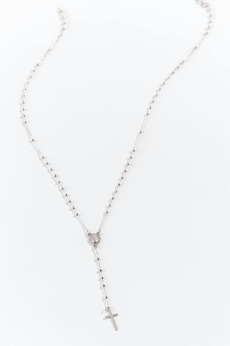 Rosary Y Necklace-  silv-cl3