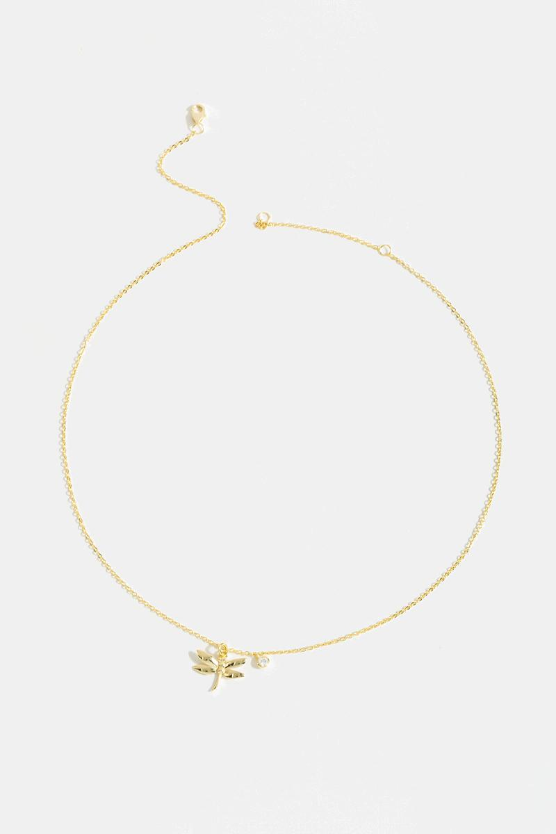 Belle Dragonfly Necklace- Gold 3