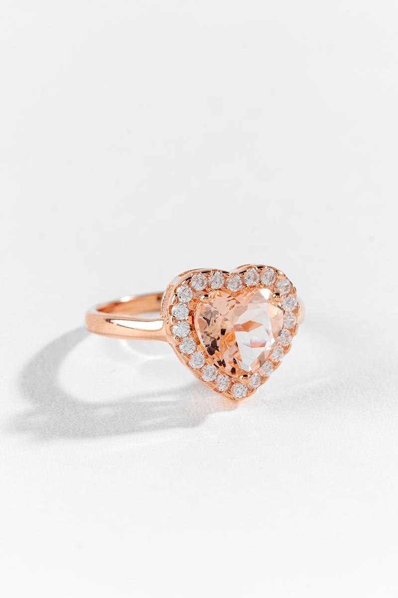 Adeline CZ Heart Ring-  rgold-cl