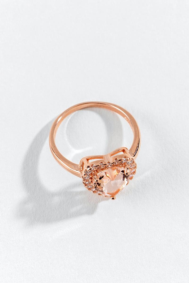Adeline CZ Heart Ring-  rgold-cl2