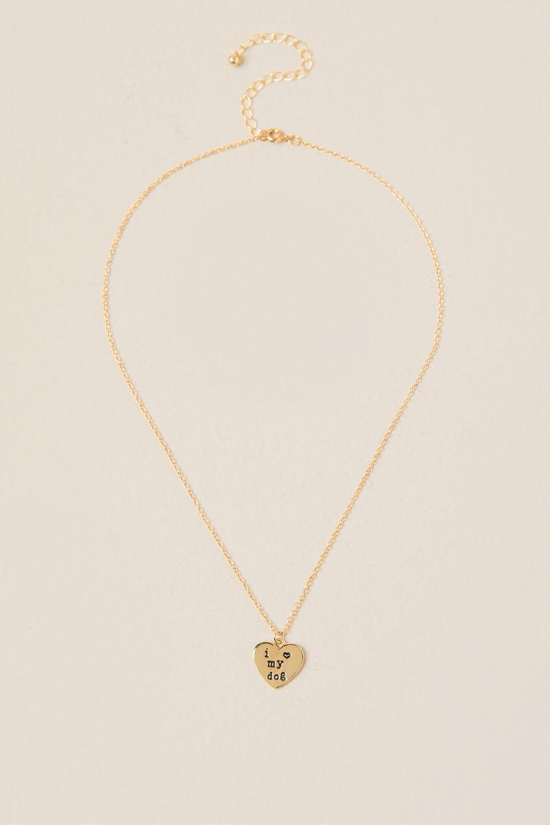 Dog and Human Friendship Set-  gold-cl