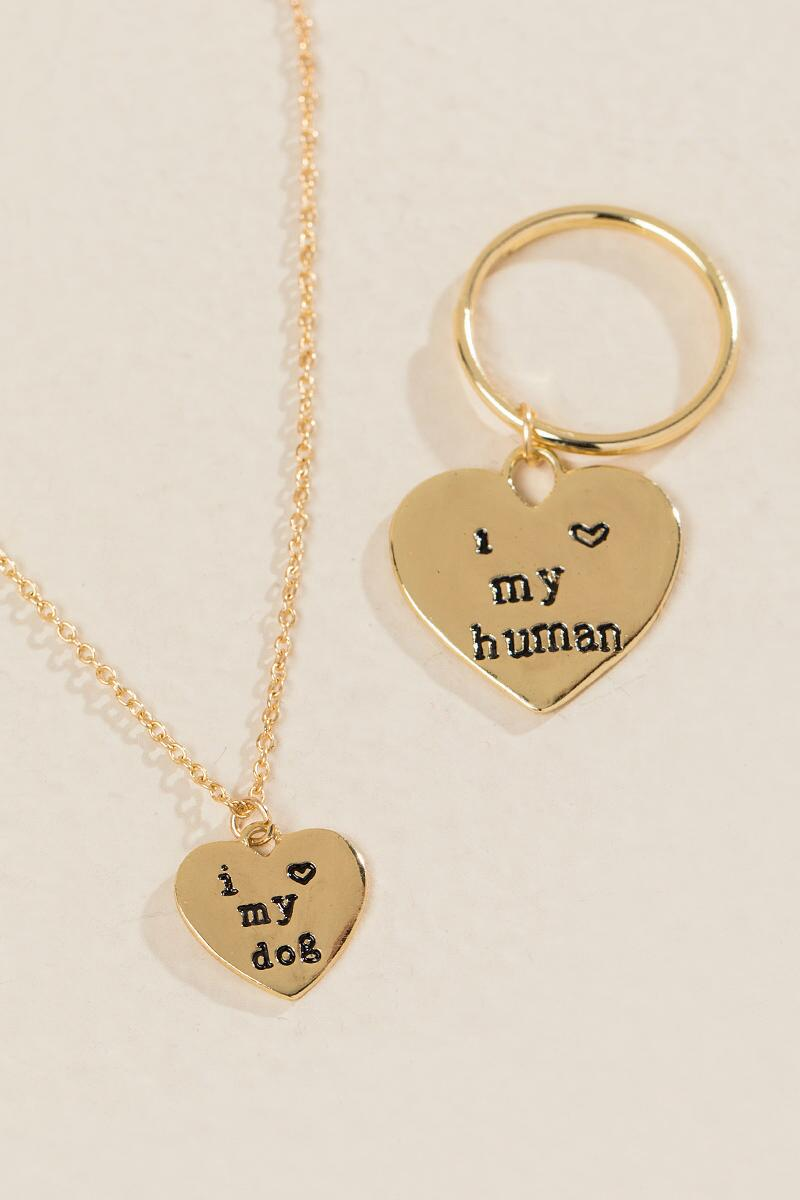 Dog and Human Friendship Set-  gold-clalternate2