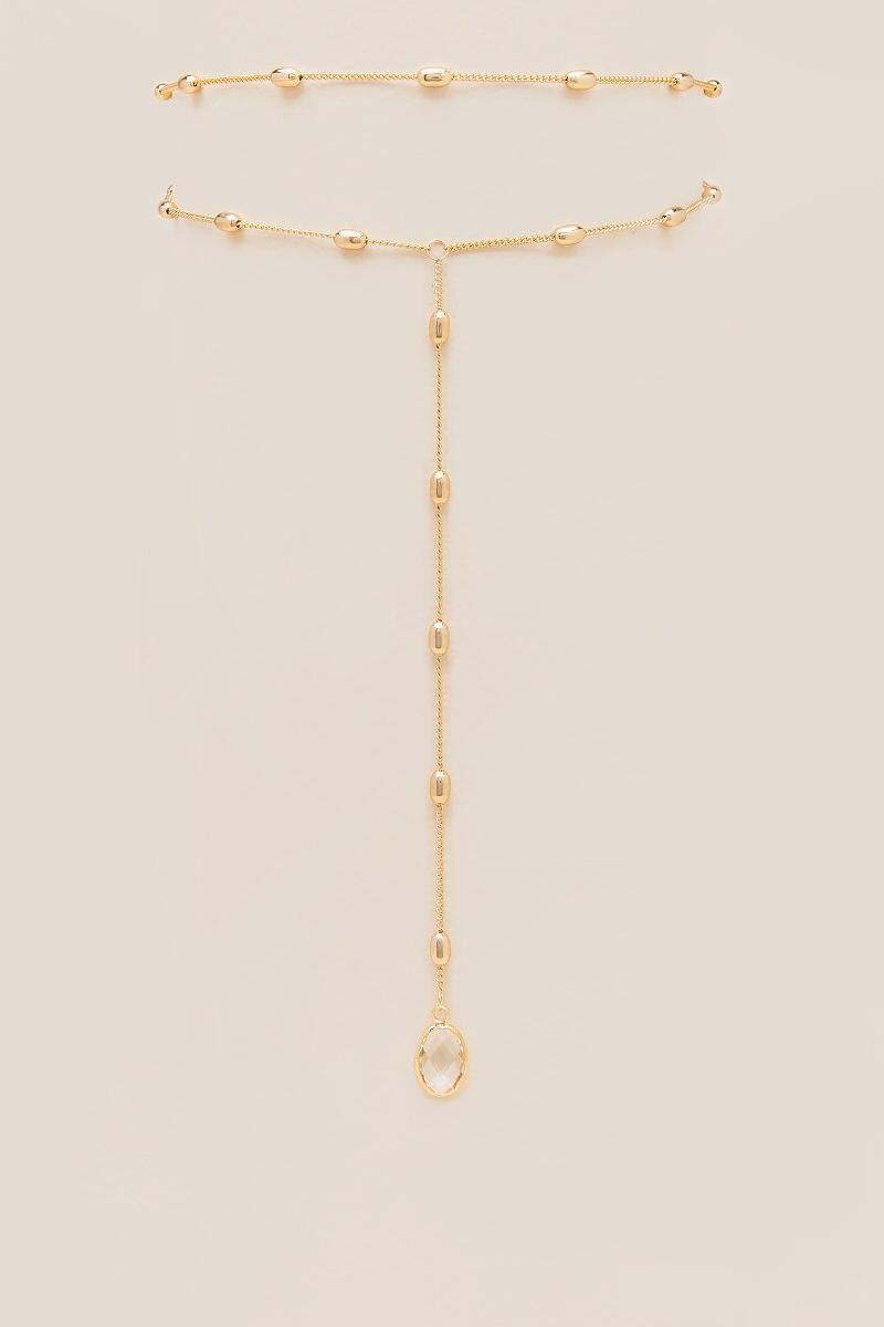 Lela Y Necklace Pendant Choker