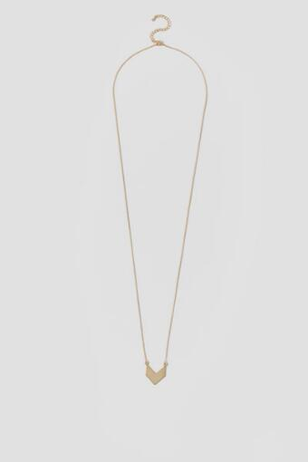 Felicity Solid Chevron Pendant Necklace in Gold