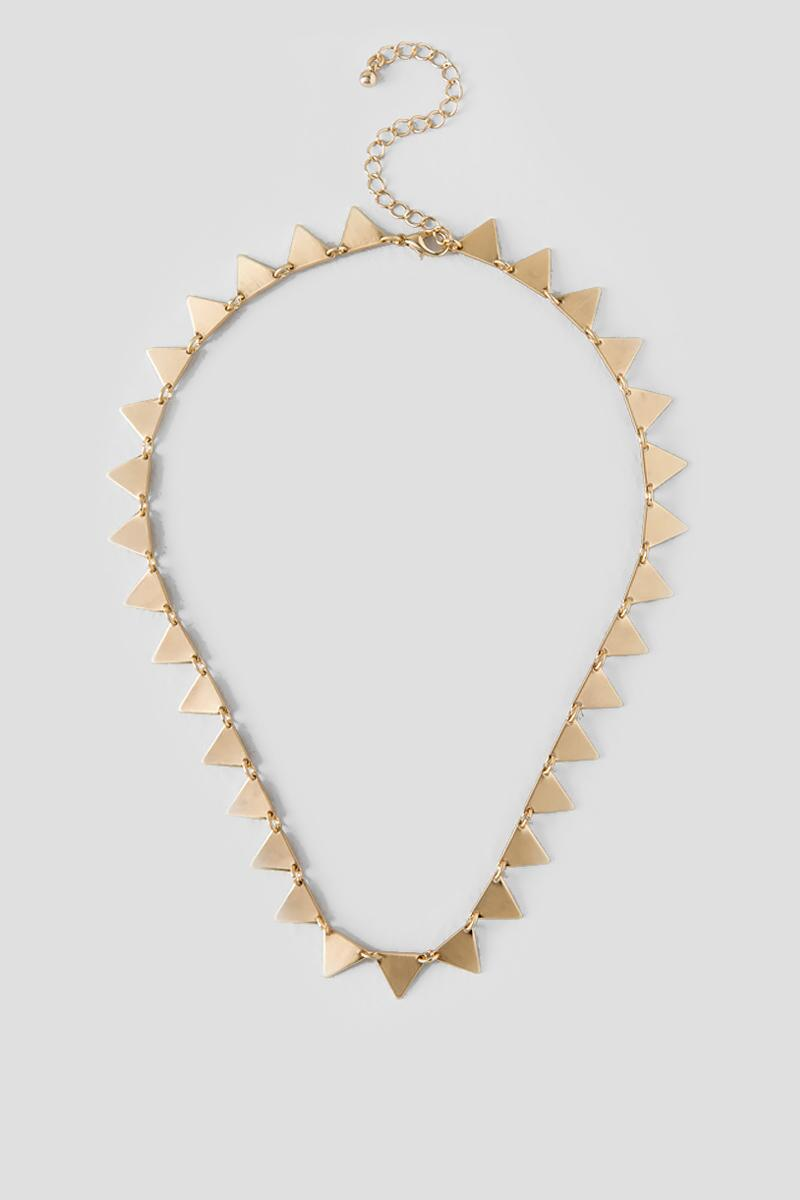 Leticia Triangle Strand Necklace-  gold-cl