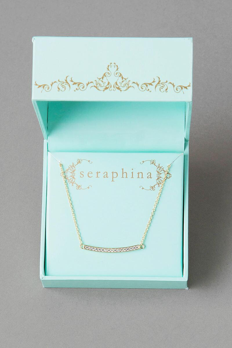 Seraphina Crystal Bar Necklace