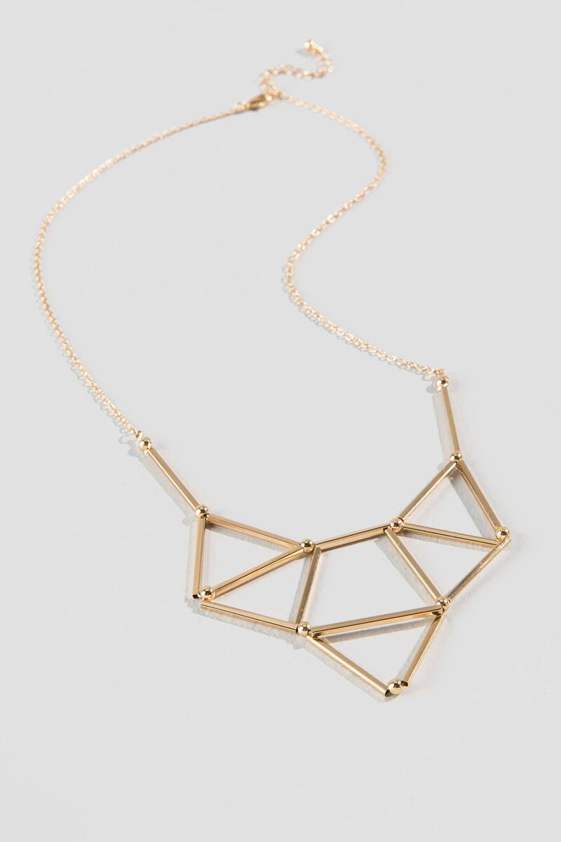Tracy Geo Statement Necklace-  gold-clalternate