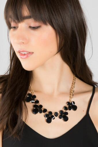 Rimona Bee Statement Necklace in Black