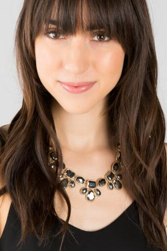 Mandy Teardrop Statement Necklace in Gray