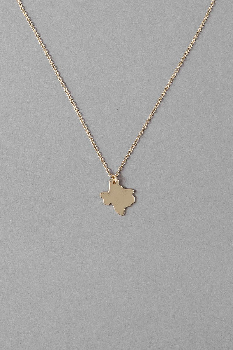 Big Texas Pendant Necklace