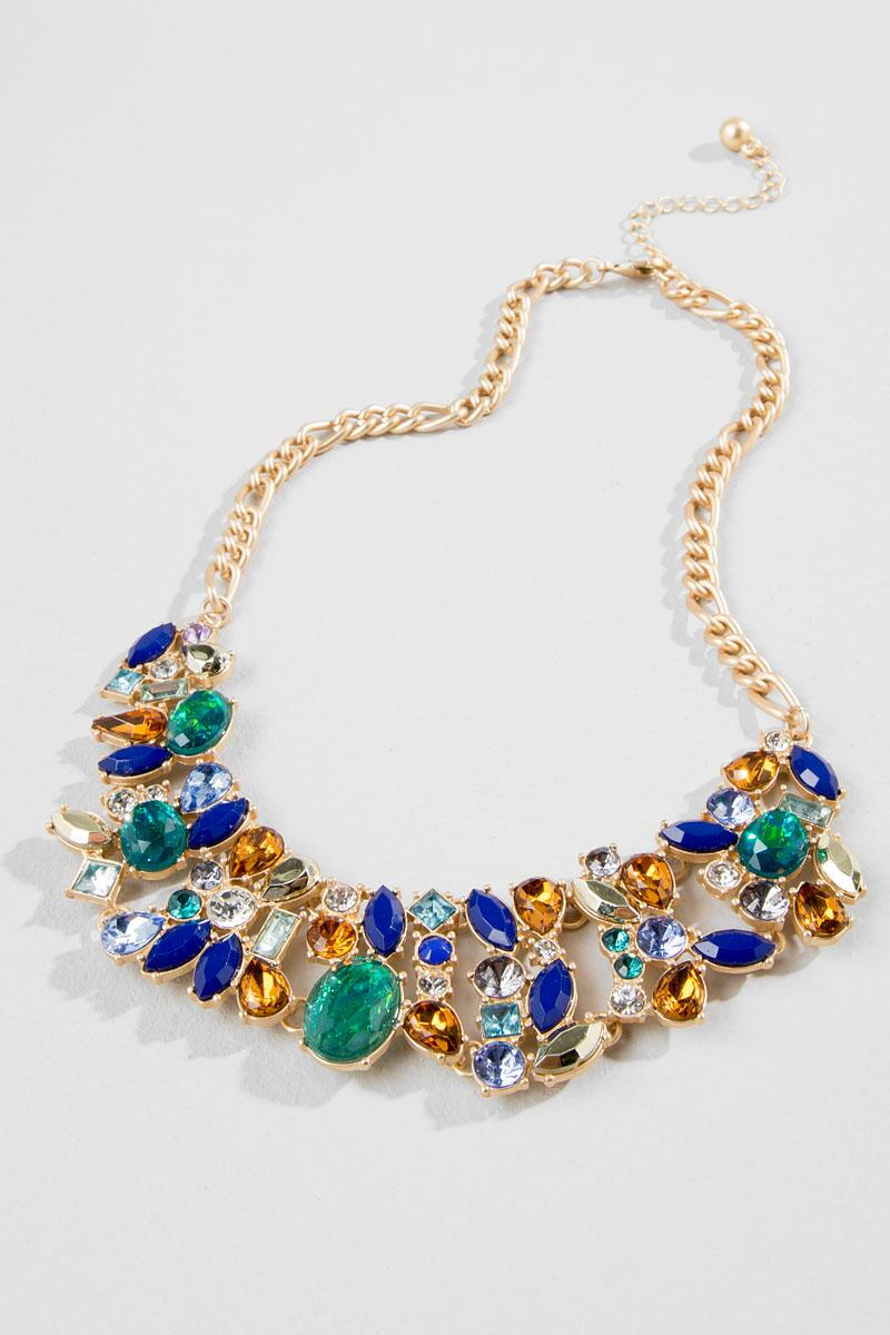 Dyer Jeweled Statement Necklace