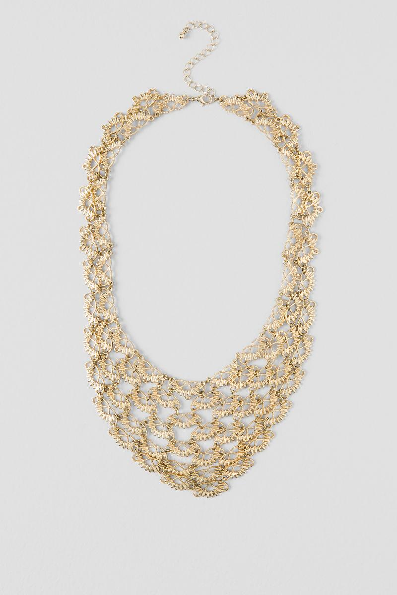 Laleh Filigree Linked Statement Necklace