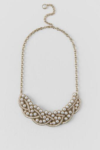 Savannah Inset Pearl Statement Necklace