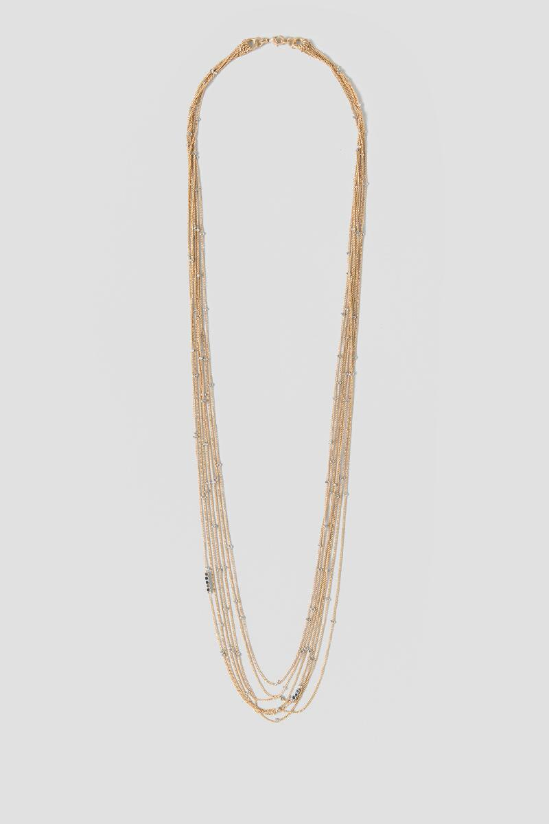 Xaria Delicate Layered Station Necklace-  silv-cl
