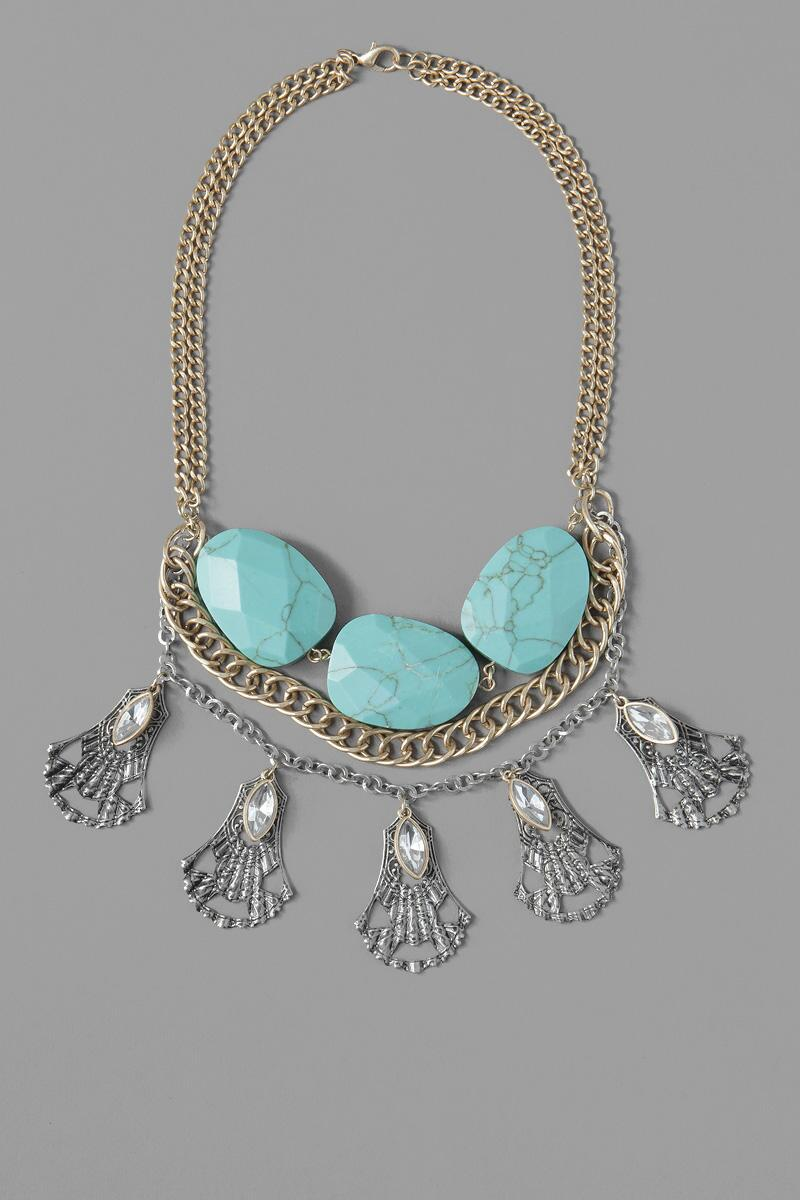 Arista Mixed Media Necklace