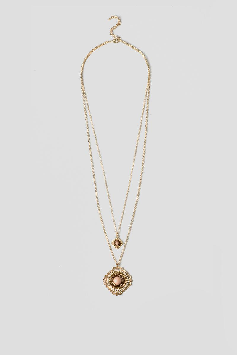 Leeland Pendant Necklace-  taup-clalternate