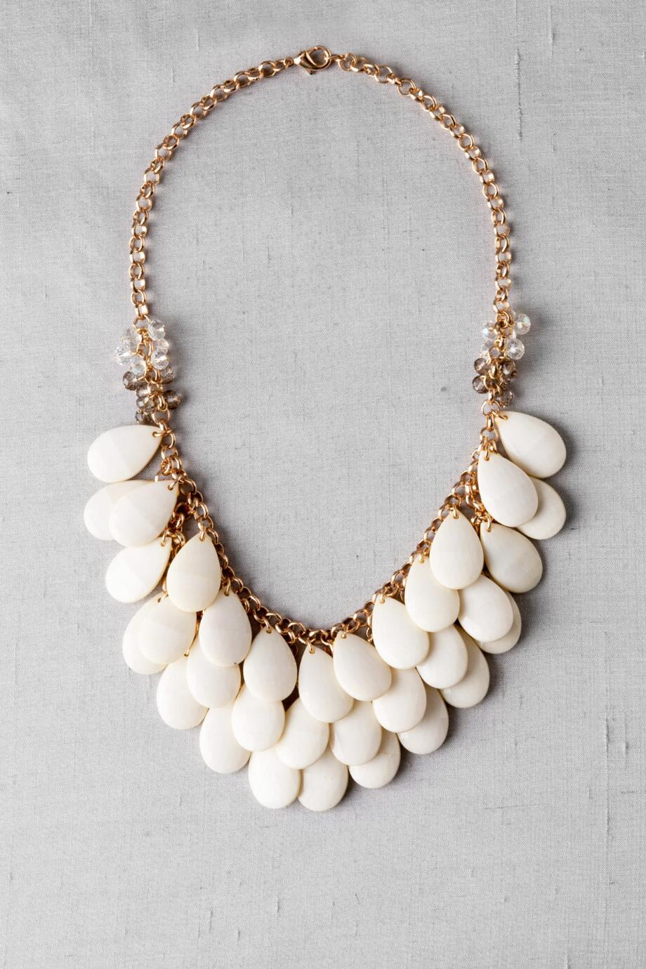 Teardrop Necklace in Ivory