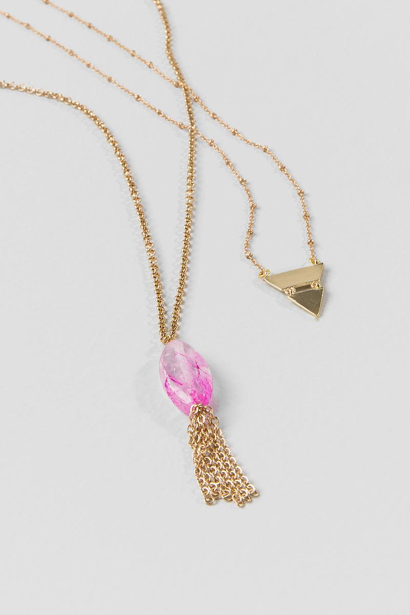 Kyla Layer Necklace-  npink-clalternate