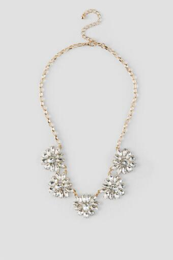 Florentina Crystal Flowers Statement Necklace