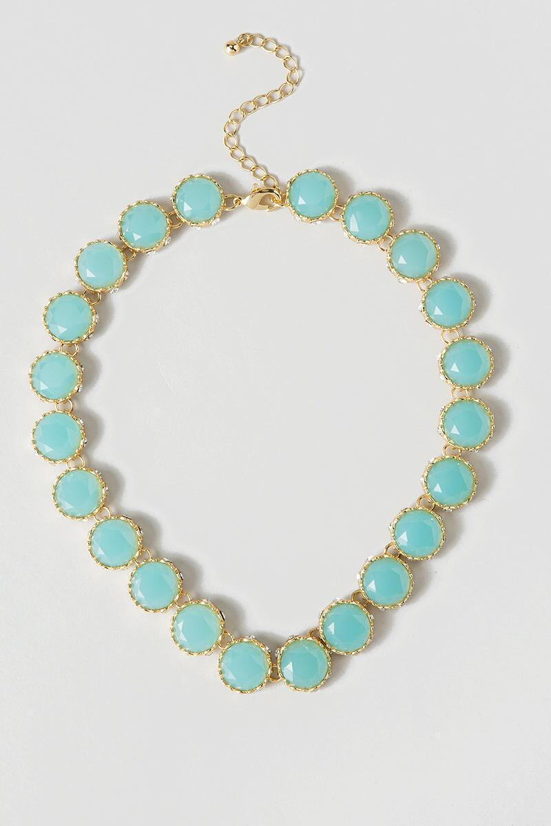Delta Jeweled Necklace in Turquoise