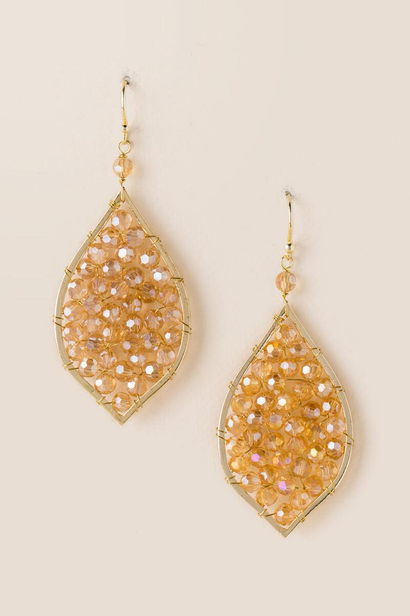 Arie Glass Beaded India Drop Earring-  cham-cl