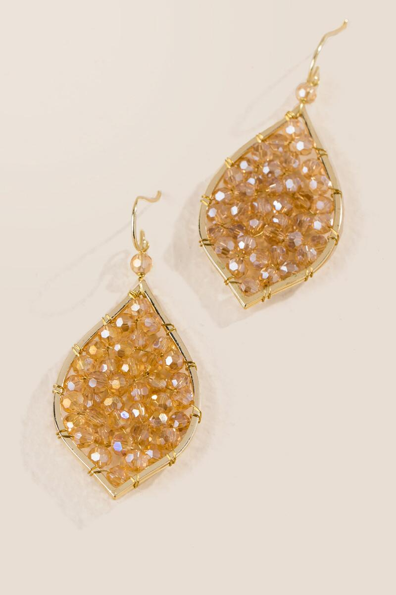 Arie Glass Beaded India Drop Earring-  cham-clalternate