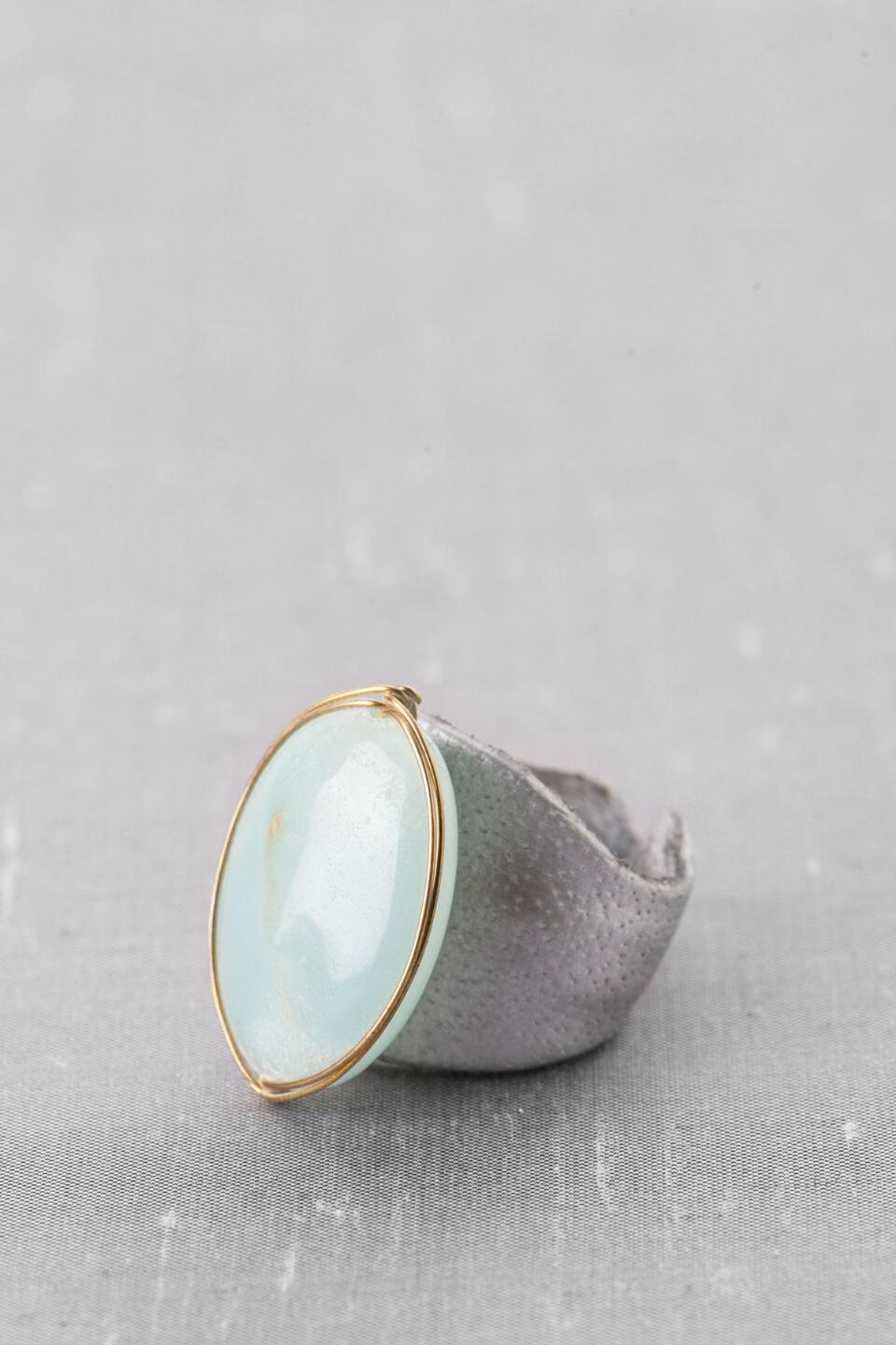 Sparks Large Stone Ring-  mint-cl