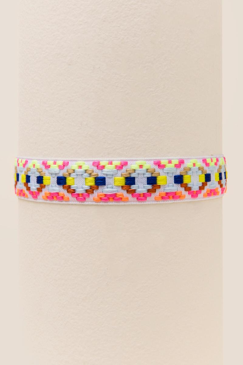 Barbados Embroidered Choker-  multi-clalternate