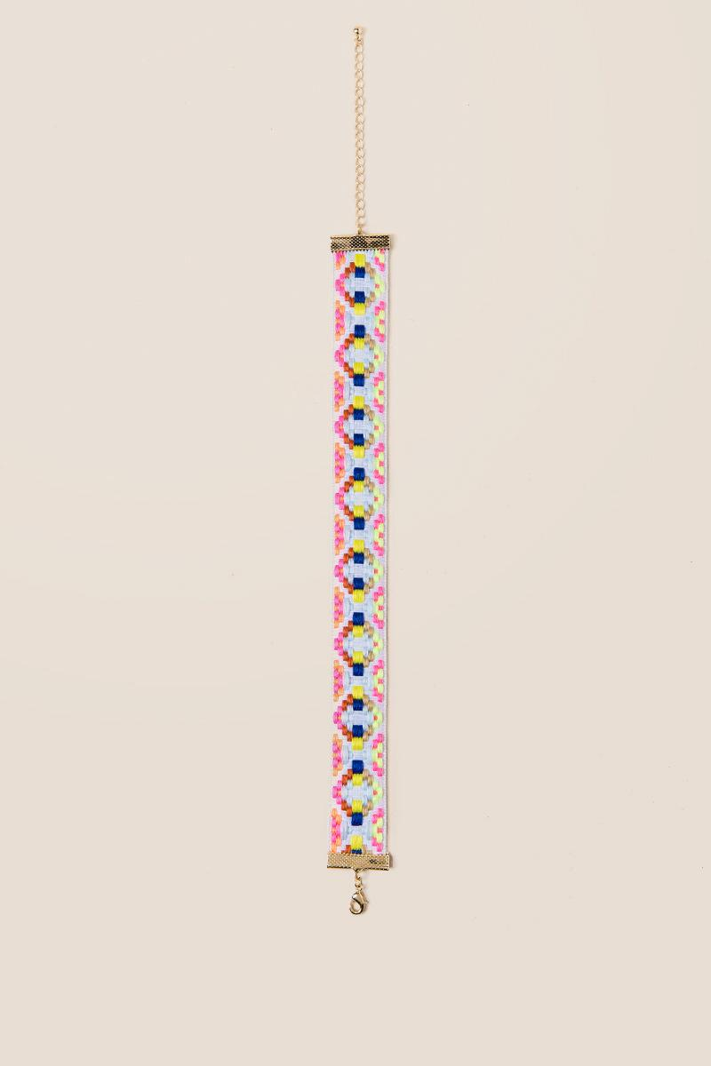 Barbados Embroidered Choker-  multi-clalternate2