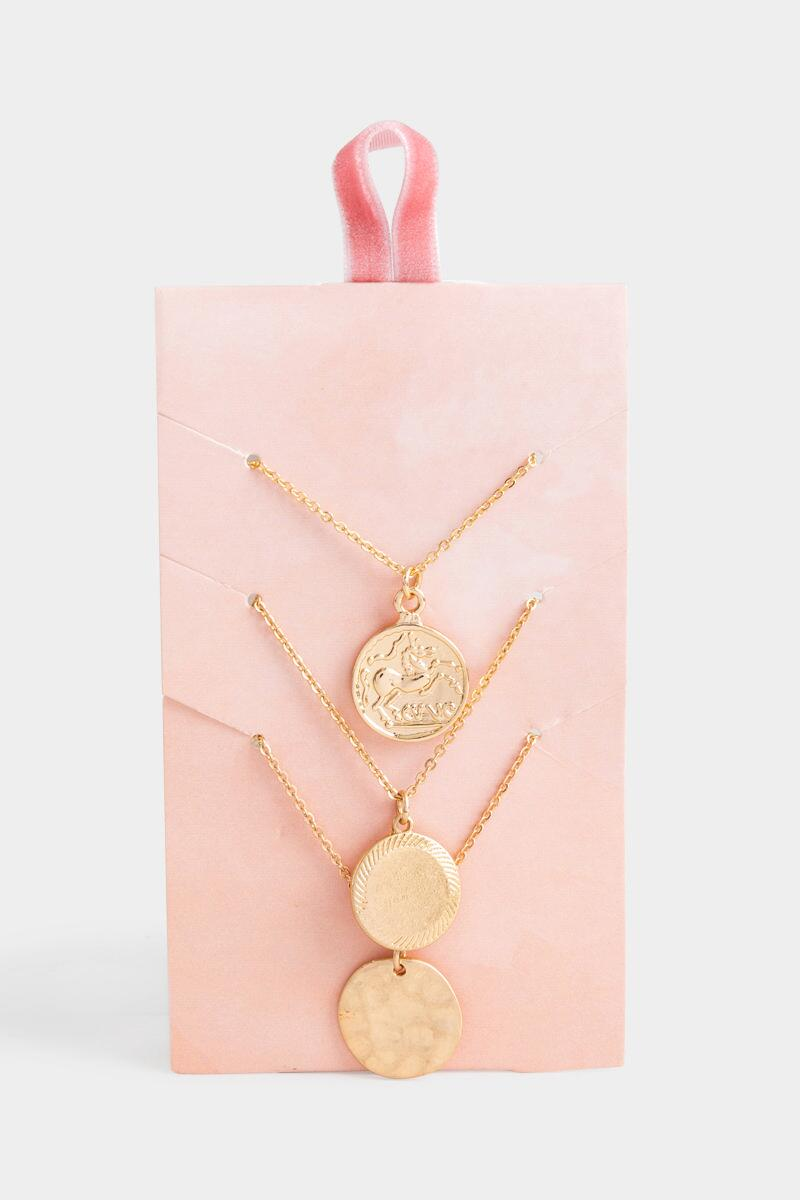 Vivian Coin Pendant Necklace Set