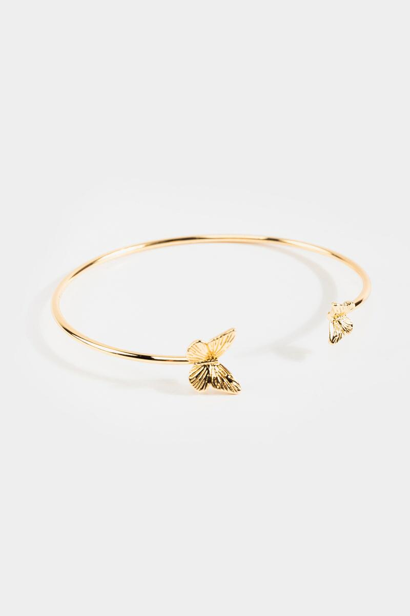 Emma Butterfly Cuff- Gold