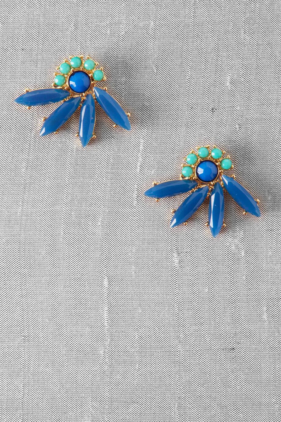 Tahiti Jeweled Fan Studs