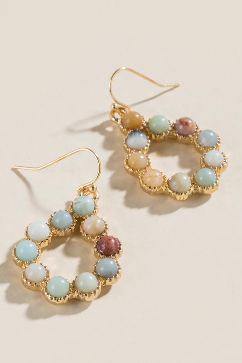 Finley Amazonite Teardrop Earrings